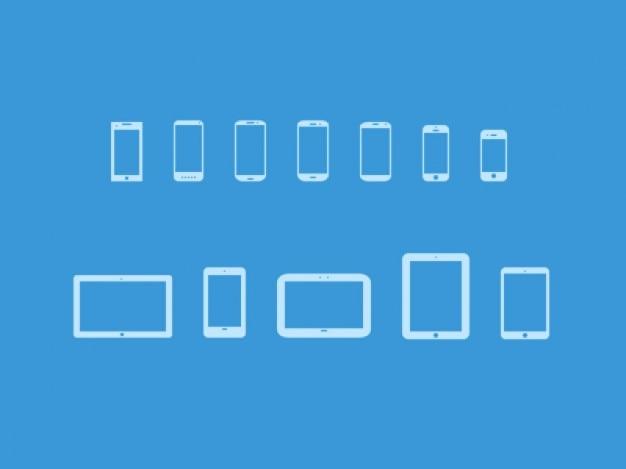 Dispositivos móveis ícones