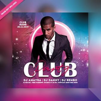 Dj club party flyer