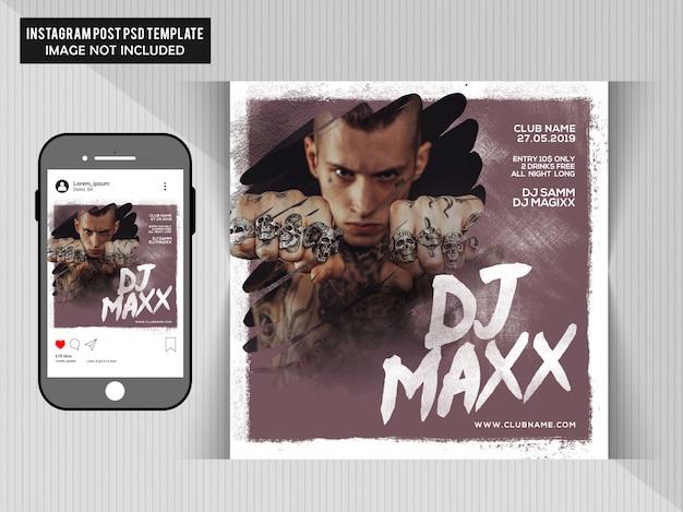 Dj maxx party flyer
