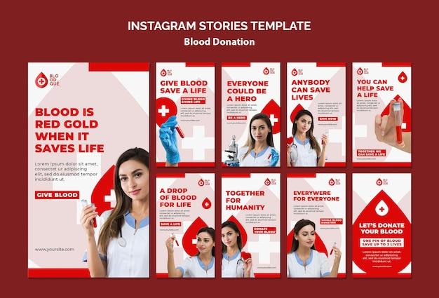 Doando histórias de instagram de sangue