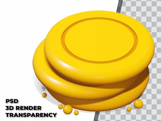 Doces dalgona 3d com fundo transparente