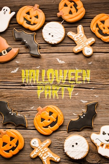 Doces ou travessuras de festa de halloween