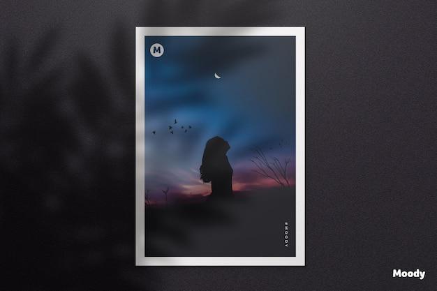 Documento a4 ou modelo de panfleto com sombra