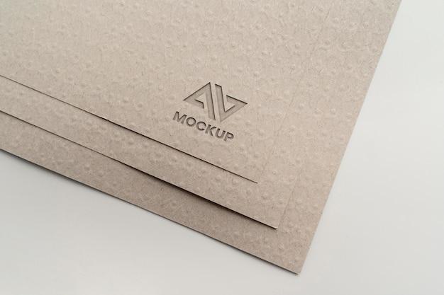 Documentos com design elegante de logomarca