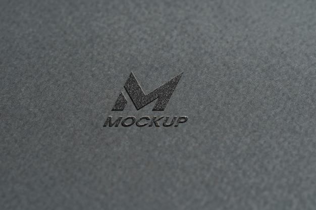 Documentos com um elegante modelo de logotipo com vista superior