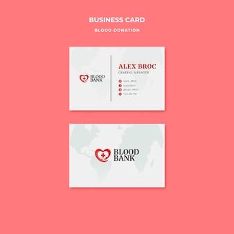 Doe sangue cartão de visita