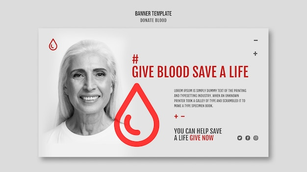 Doe sangue estilo banner de campanha