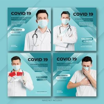Doença de coronavírus pós pacote de mídia social