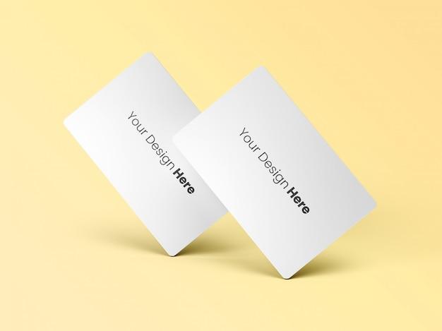 Dois cartões de visita em pé mínimos