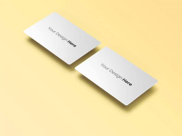 Dois cartões de visita flutuantes mínimos