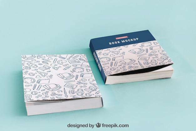 Dois maquetes de capa de livro