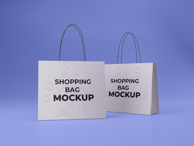 Dois modelos de sacola de compras personalizáveis de alta qualidade