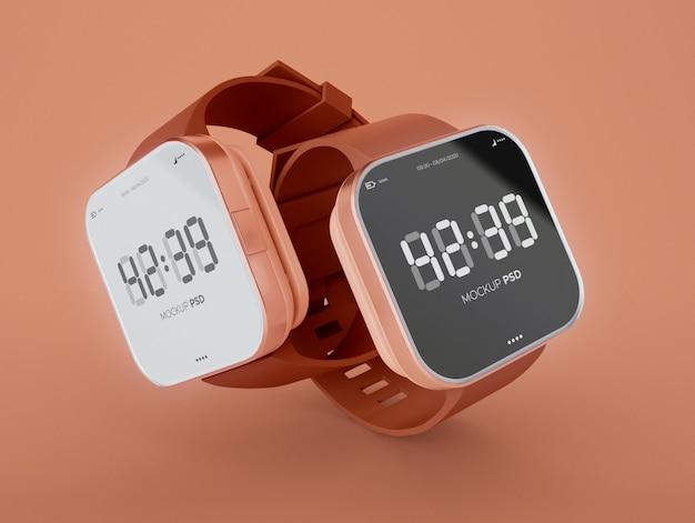 Dois modelos de smartwatch