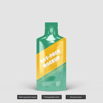 Doy-pack com design de maquete de bico superior isolado