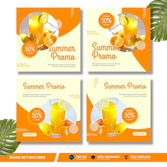 Drink summer promo mídias sociais