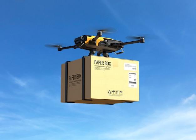 Drone de entrega com o cartão