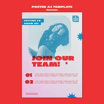 Duotone business print template