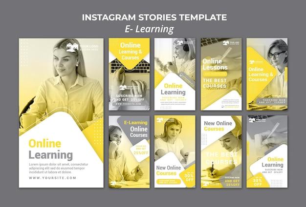 E aprendendo histórias do instagram