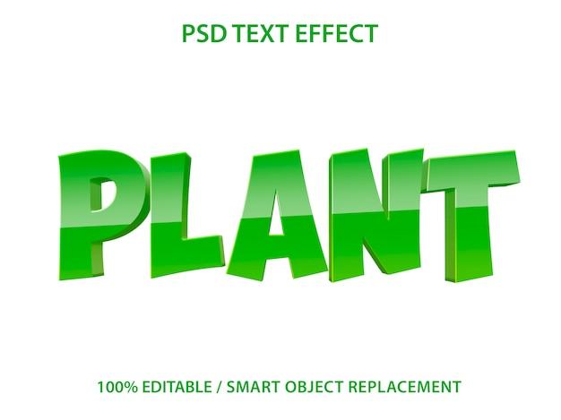 Editable text effect plant
