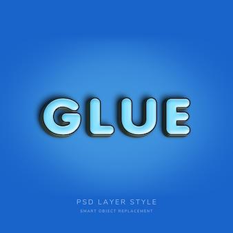 Efeito 3d de estilo de texto azul