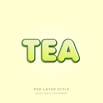 Efeito 3d de estilo de texto verde claro