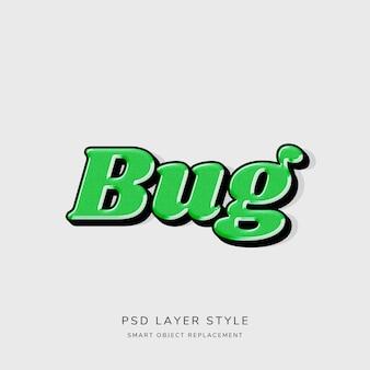 Efeito 3d de estilo de texto verde
