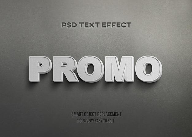 Efeito 3d de texto real branco