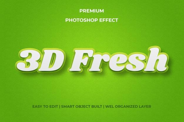 Efeito 3d de texto verde fresco