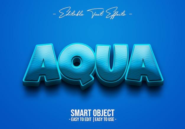 Efeito aqua-text-style