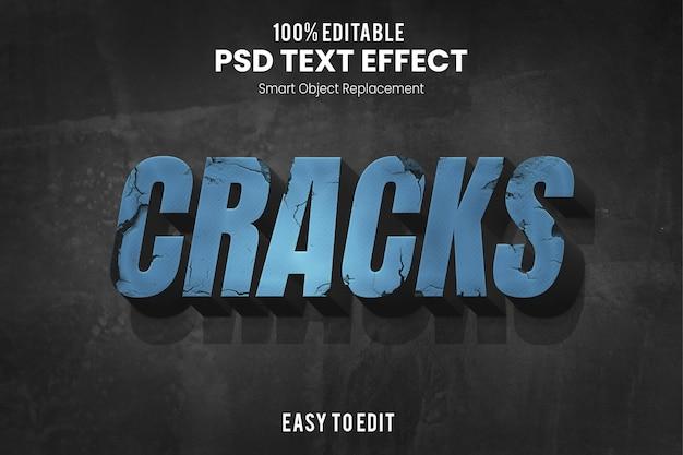 Efeito crackstext