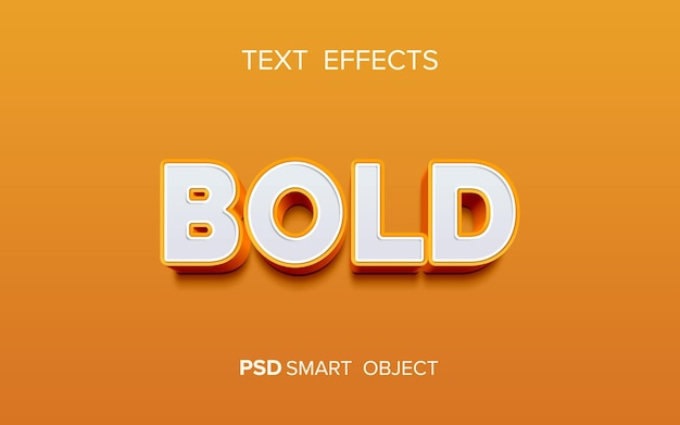 Efeito criativo de texto em negrito