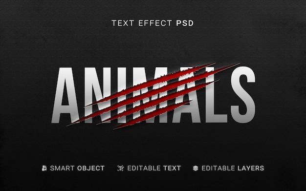 Efeito criativo de texto fatiado