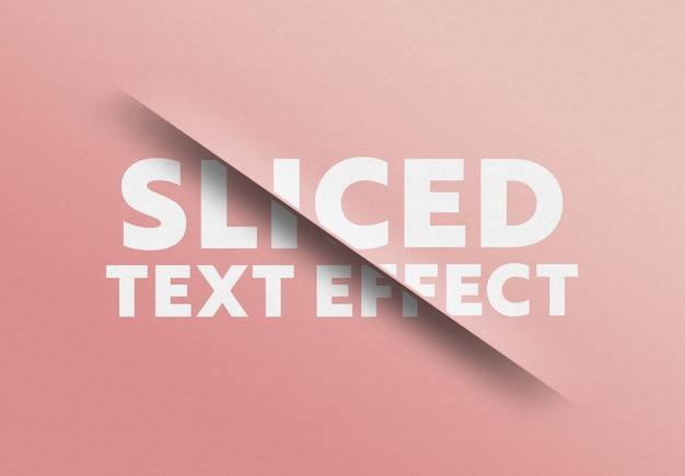 Efeito de corte de texto fatiado