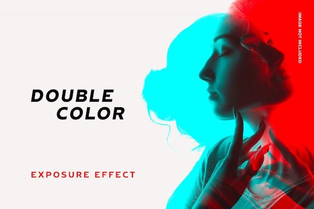 Efeito de dupla exposição à cor