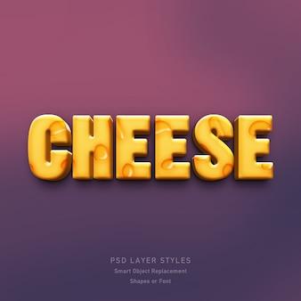 Efeito de estilo 3d de queijo