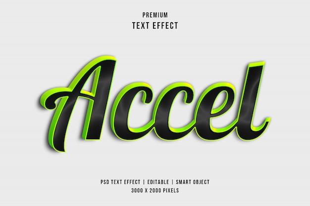 Efeito de estilo de texto 3d accel