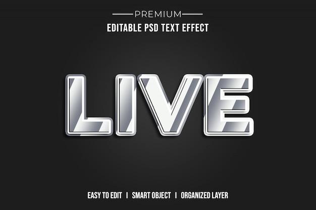 Efeito de estilo de texto 3d ao vivo