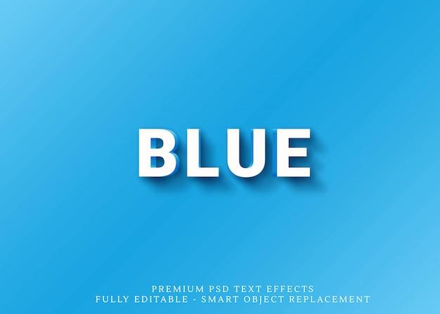 Efeito de estilo de texto 3d azul e laranja