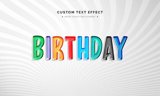 Efeito de estilo de texto 3d colorido