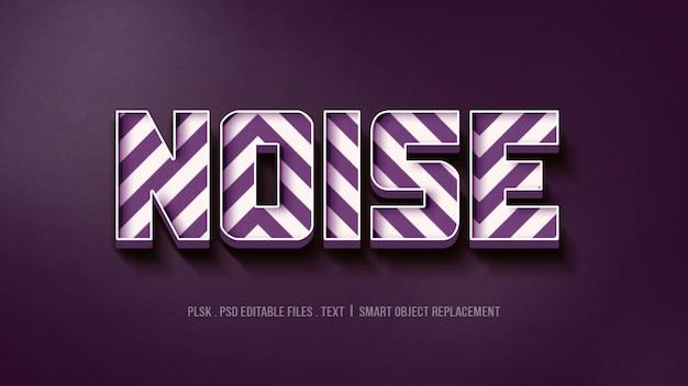 Efeito de estilo de texto 3d com ruído