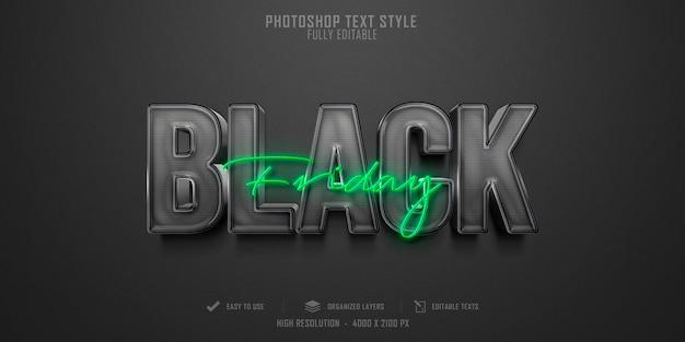 Efeito de estilo de texto 3d da black friday