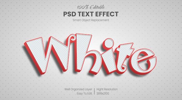 Efeito de estilo de texto 3d de desenho animado