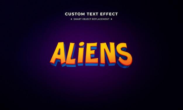 Efeito de estilo de texto 3d de filme de animação