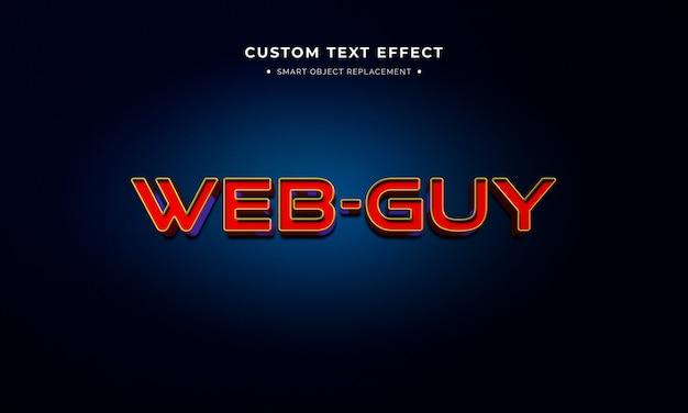 Efeito de estilo de texto 3d de filme de super-herói