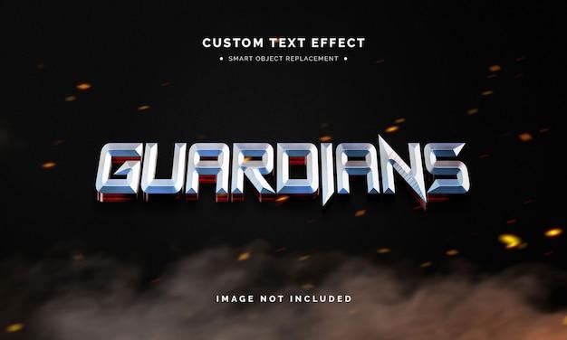 Efeito de estilo de texto 3d de super-herói