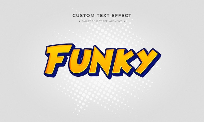 Efeito de estilo de texto 3d dos desenhos animados