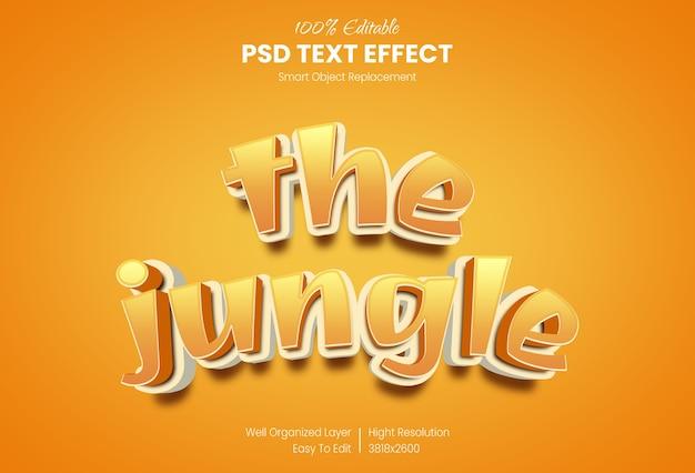 Efeito de estilo de texto 3d estilo de desenho animado
