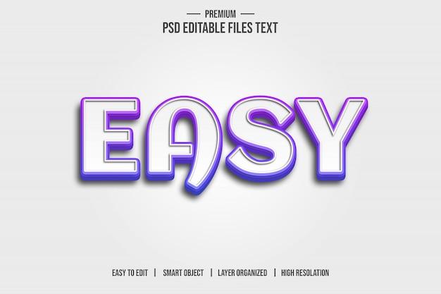 Efeito de estilo de texto 3d fácil