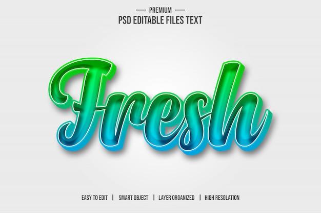 Efeito de estilo de texto 3d fresco