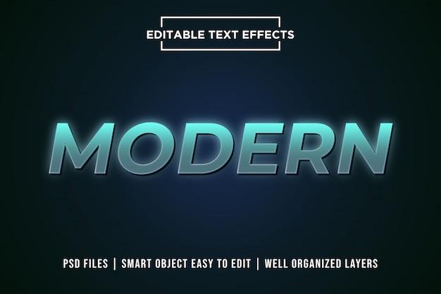 Efeito de estilo de texto 3d moderno psd premium